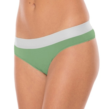 Comfy Minty No Show String Wood (2-pack)